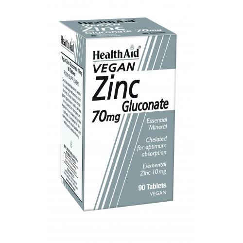 H/AID ZINC gluconate 70mg 90tabs