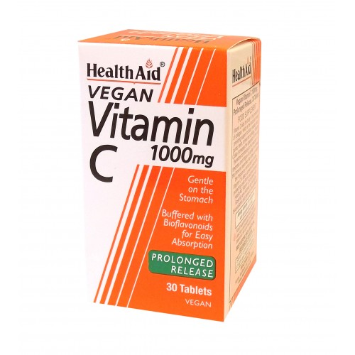 H/AID VITAMIN C 1gr Prolonged Release 1000mg 30Tablets