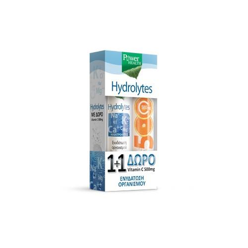 POWER HEALTH HYDROLYTES 20s + ΔΩΡΟ VITAMIN C 500mg 20s