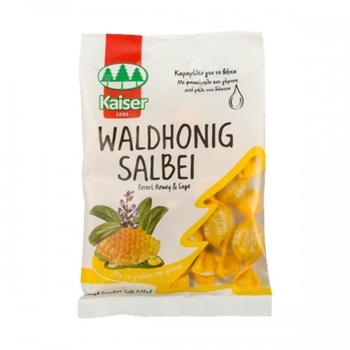 Kaiser Waldhonig Salbei Καραμέλες για το βήχα με Φασκόμηλο & Γέμιση από Μέλι του Δάσους 75g