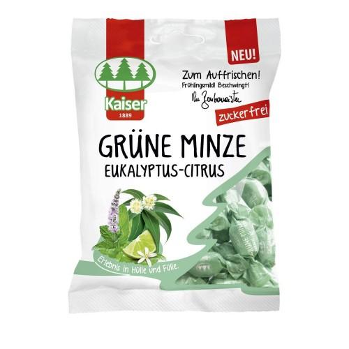 Kaiser Grune Minze Καραμέλες για το Βήχα με Δυόσμο,Ευκάλυπτο και Lime 60gr