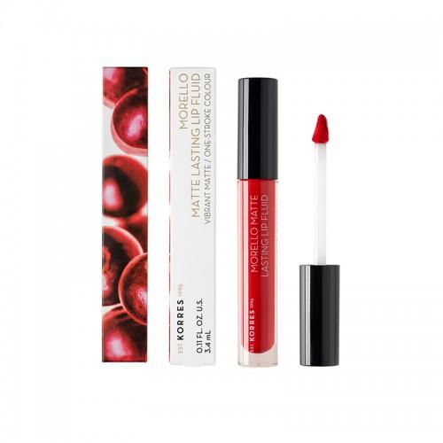 Korres Matte Lasting Lip Fluid 52 Poppy Red