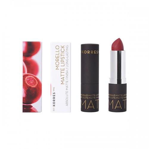 Korres Matte Lipstick 59 Burgundy Red