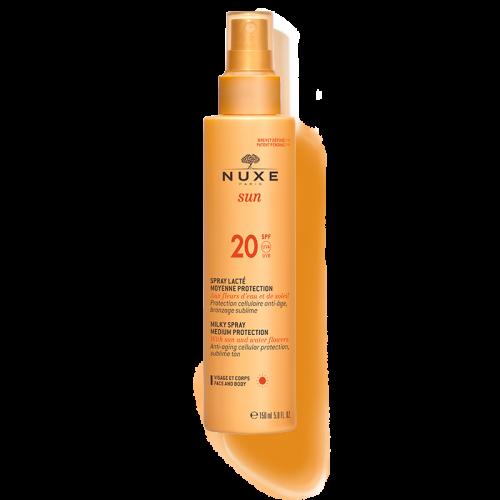 NUXE SUN milky spray- Αντηλιακό γαλάκτωμα για πρόσωπο & σώμα SPF20