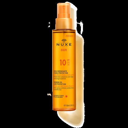 NUXE SUN tanning oil- Λάδι μαυρίσματος για πρόσωπο & σώμα SPF10