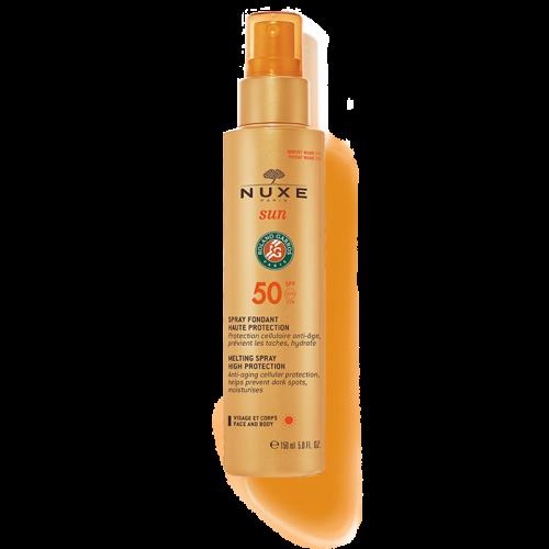 NUXE SUN milky spray- Αντηλιακό γαλάκτωμα spray για πρόσωπο & σώμα SPF50
